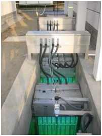 Рис. 2. Станция УФ обеззараживания сточной воды Jiu Xian Qiao (Китай) для полива и технических нужд.